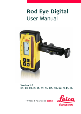 Rod Eye Digital User Manual