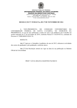 Calendário Acadêmico 2015 - prograd