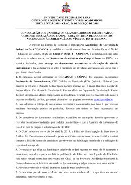 ciac, 26 de março de 2015 co - Universidade Federal do Pará