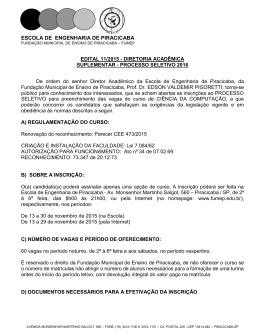 DIRETORIA ACADÊMICA/GABINETE