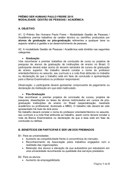 1.1 – Regulamento Premio GP – ACADEMICO 2015 - ABRH-PE