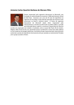 Antonio Carlos Quartim Barbosa de Moraes Filho - Sebrae-SP
