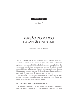 Revisão do Marco da Missão Integral – Antonio Carlos Barro