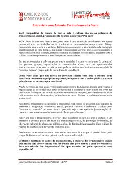 Entrevista com Antonio Carlos Gomes da Costa