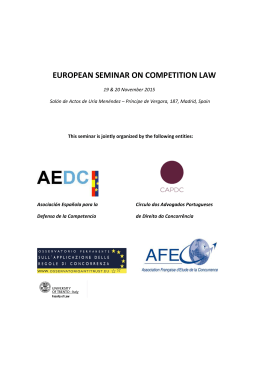 european seminar on competition law