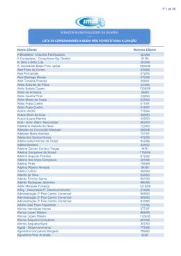 lista de consumidores a quem não foi restituida a