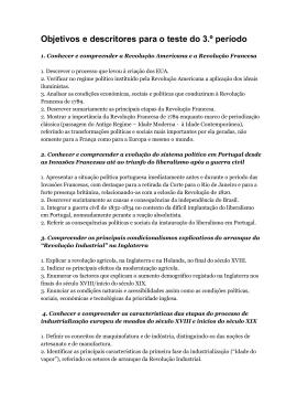 Objetivos e descritores para o teste do 3.º período