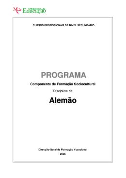 programa continuação
