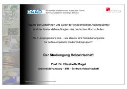 Prof. Elisabeth A. Magel, U Hamburg