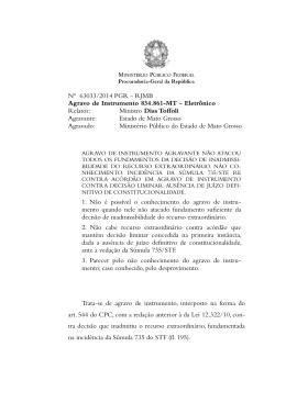Nº 63033/2014 PGR - RJMB Agravo de Instrumento 834.861