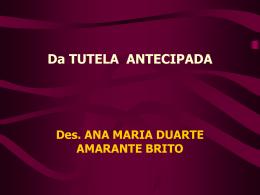 Da TUTELA ANTECIPADA