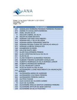 Lei das Águas T-26A (09/11 a 22/11/2015)