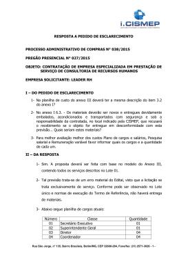 EDITAL DE PREGÃO ELETRÔNICO N° 165/2007