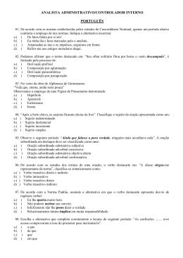 analista administrativo/controlador interno português