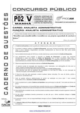 P02 - Analista Administrativo