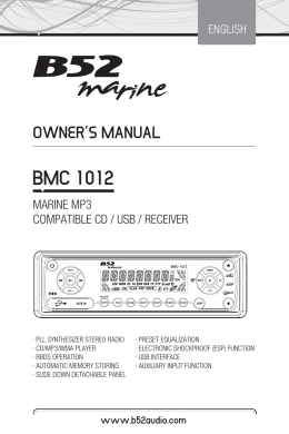 Manual-B52 Marine BMC