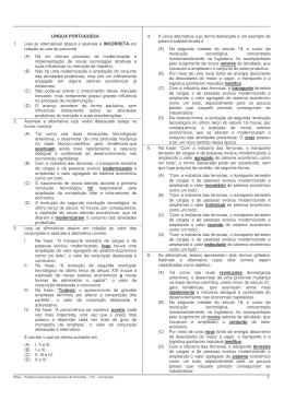LÍNGUA PORTUGUESA 1. Leia as alternativas abaixo e assinale a