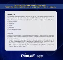 Questão 54 - UniBrasil