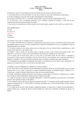 PROVA DE FÍSICA 2º ANO - 2ª MENSAL