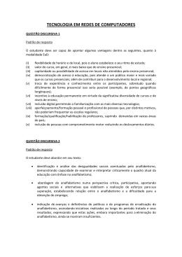 TECNOLOGIA EM REDES DE COMPUTADORES
