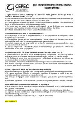 - QUESTIONÁRIO 02 – - cepeconline.com.br