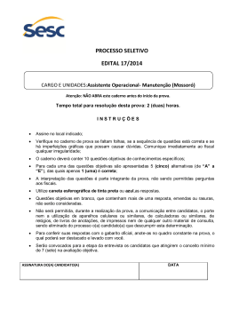 PROCESSO SELETIVO EDITAL 17/2014