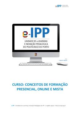 CURSO: CONCEITOS DE FORMAÇÃO PRESENCIAL - e-IPP