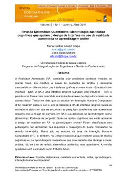 Revisão Sistemática Quantitativa: identificação das - bpv-tese