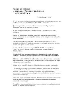 plano de contas – declarações electrónicas – informática
