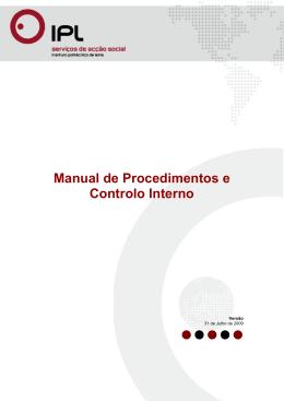 Manual de Procedimentos e Controlo Interno