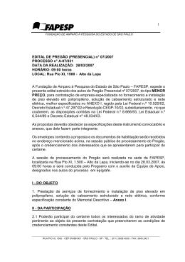 1 EDITAL DE PREGÃO (PRESENCIAL) n° 07/2007