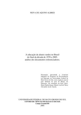 A educação de alunos surdos no Brasil do final da década