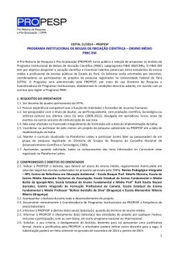 ensino médio pibic - Propesp - Universidade Federal do Pará