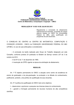 UNIVERSIDADE FEDERAL DO ABC - CMCC