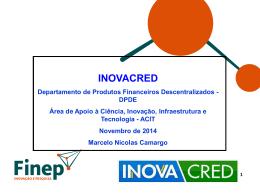 Apresentação - FINEP O Desafio da Inovação