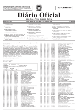 suplemento - Diário Oficial