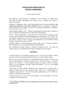 legislação brasileira de pesos e dimensões