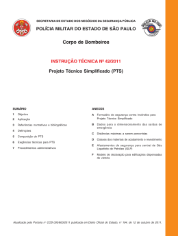 IT-42. Projeto Técnico Simplificado (PTS)