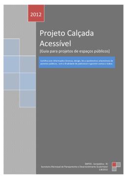 Projeto Calçada Acessível – Seropédica-RJ