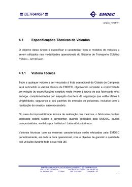 Manual de Especificação Técnica - Anexo IV
