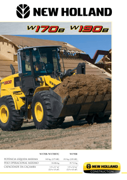 baixe o folheto - New Holland Construction