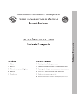INSTRUÇÃO TÉCNICA Nº 11/2004 Saídas de Emergência