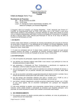 Pregão Presencial n.º 019/2009 - Fundação Luís Eduardo Magalhães