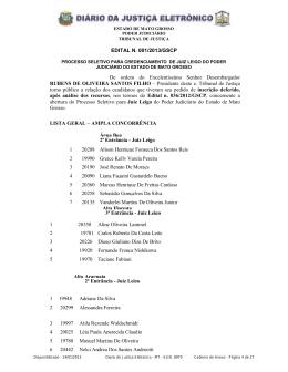 EDITAL N. 001/2013/GSCP De ordem do Excelentíssimo Senhor