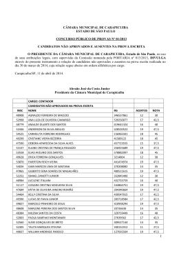 candidatos não aprovados e ausentes na prova escrita