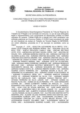 Aviso 03-2014- assinado Listagem das