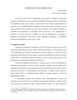 Companhia Ituana Força e Luz - Fundação Energia e Saneamento