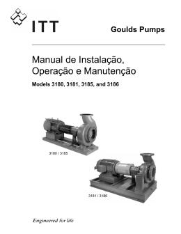 Manual de Instalação, Operação e Manutenção
