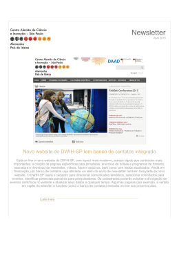 Newsletter - Abr/2015 - DWIH-SP