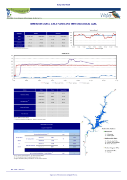 reservoir levels, daily flows and meteorological data